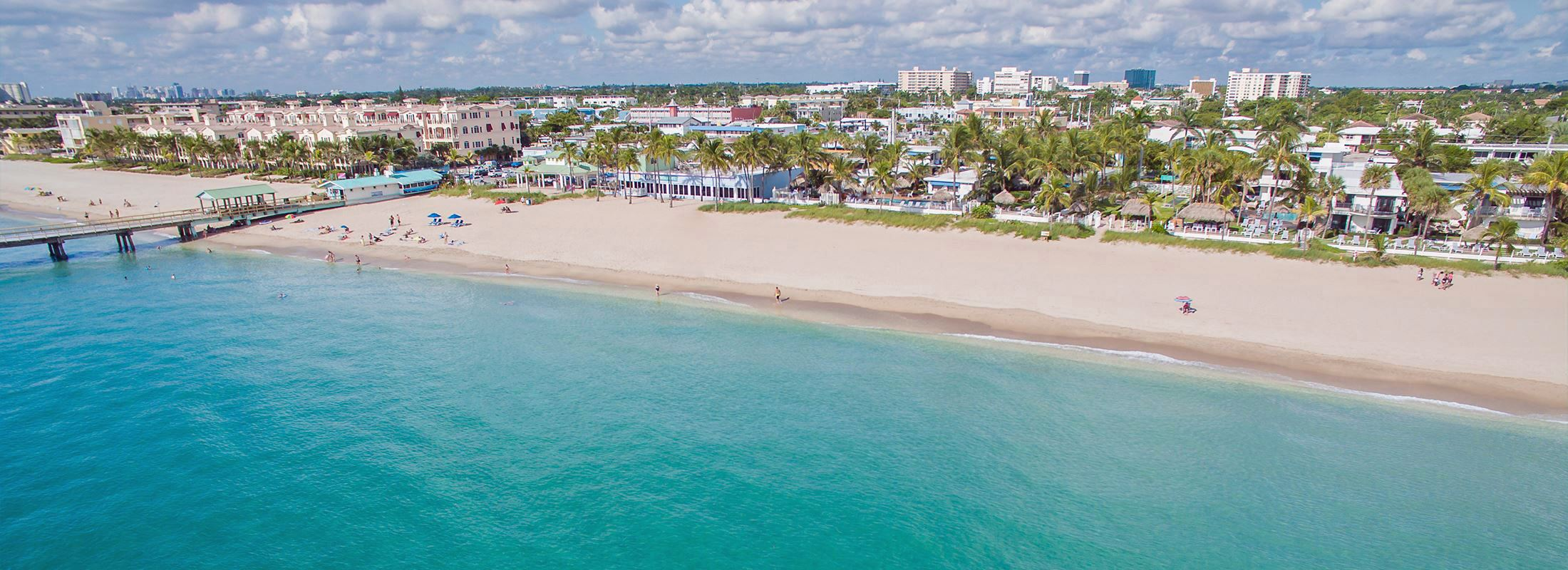 Lauderdale-By-The-Sea Aerial View of Beach and Anglins Pier