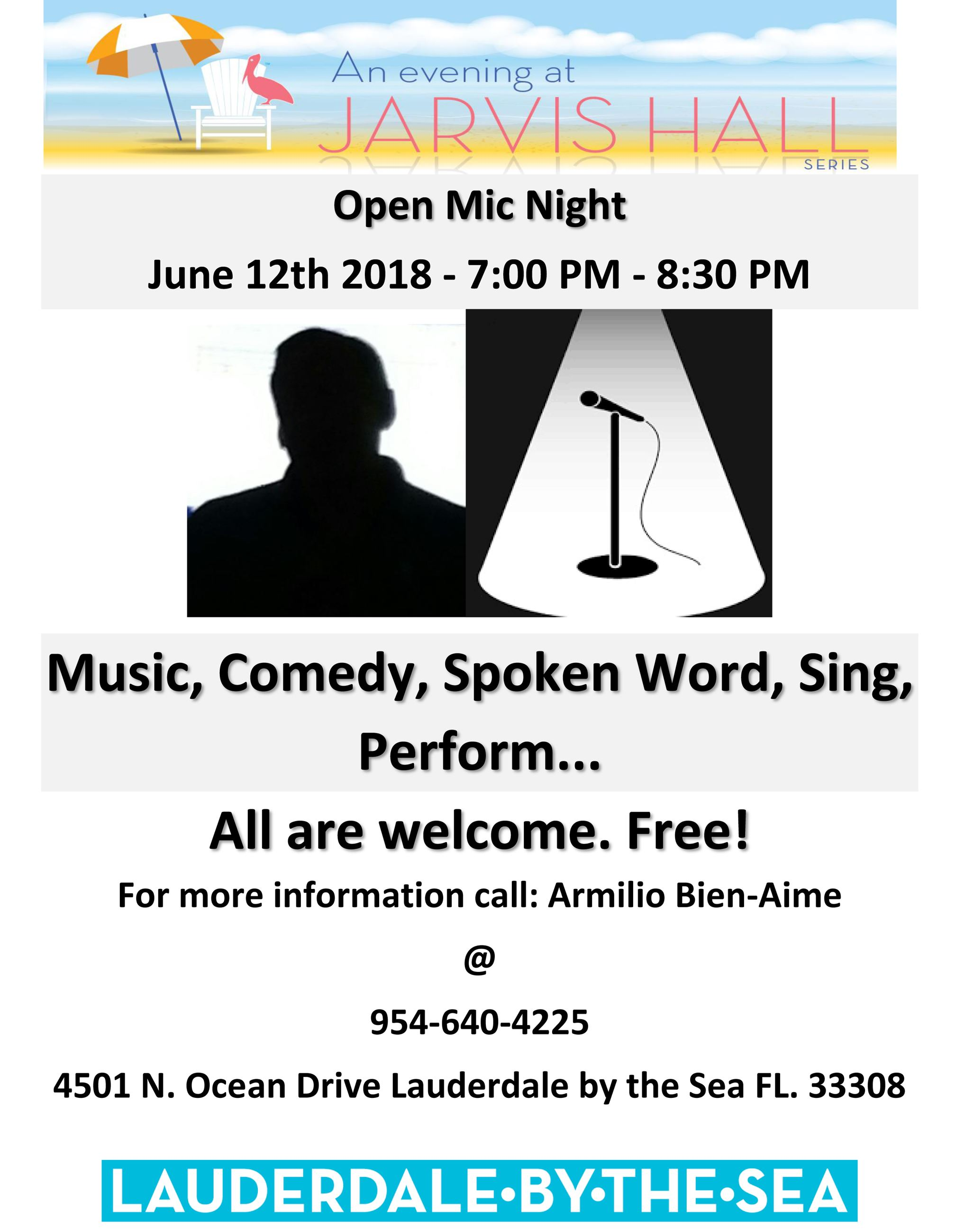 Open Mic Night June 2019 Community Center