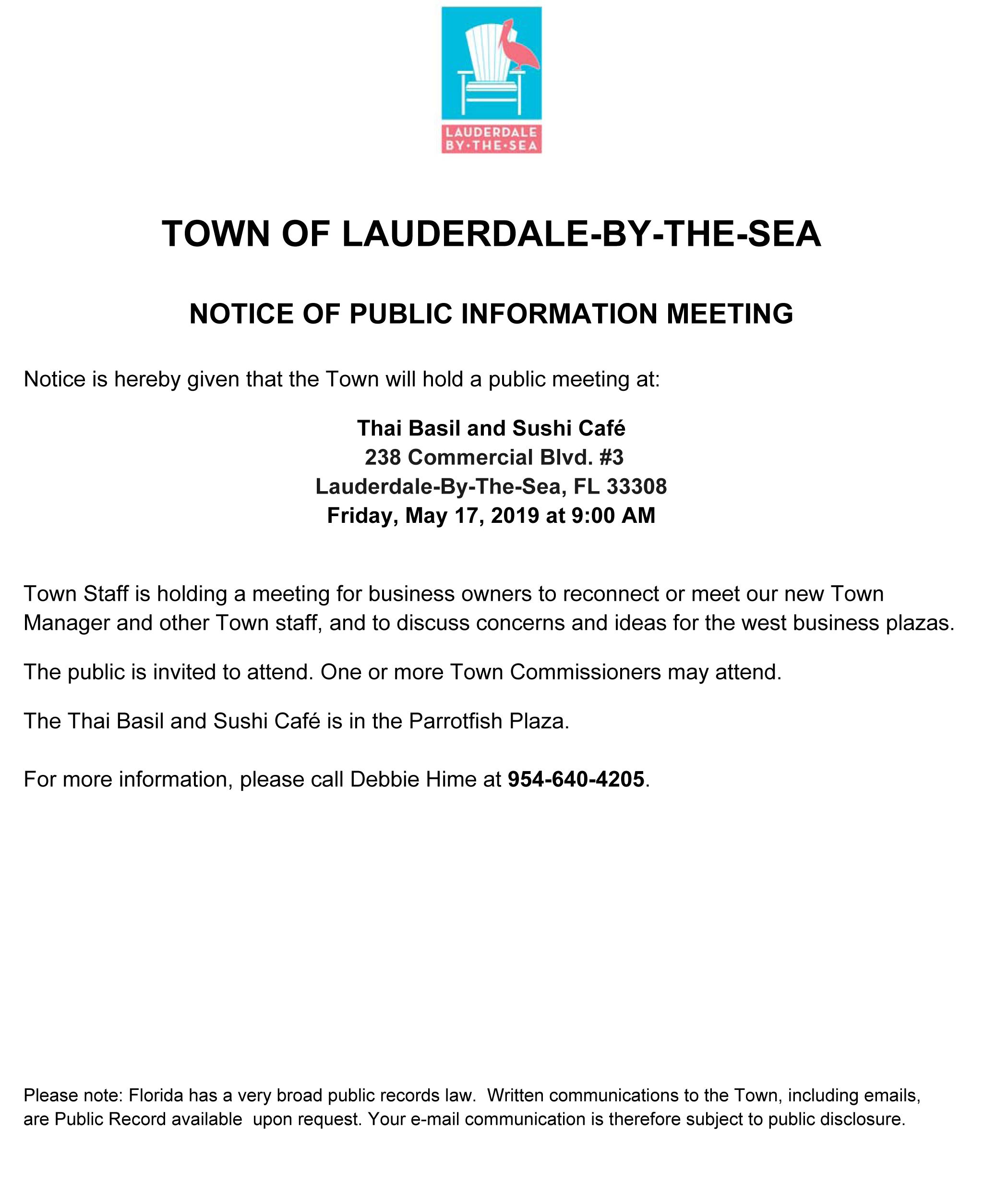 West Business Plaza Public Meeting