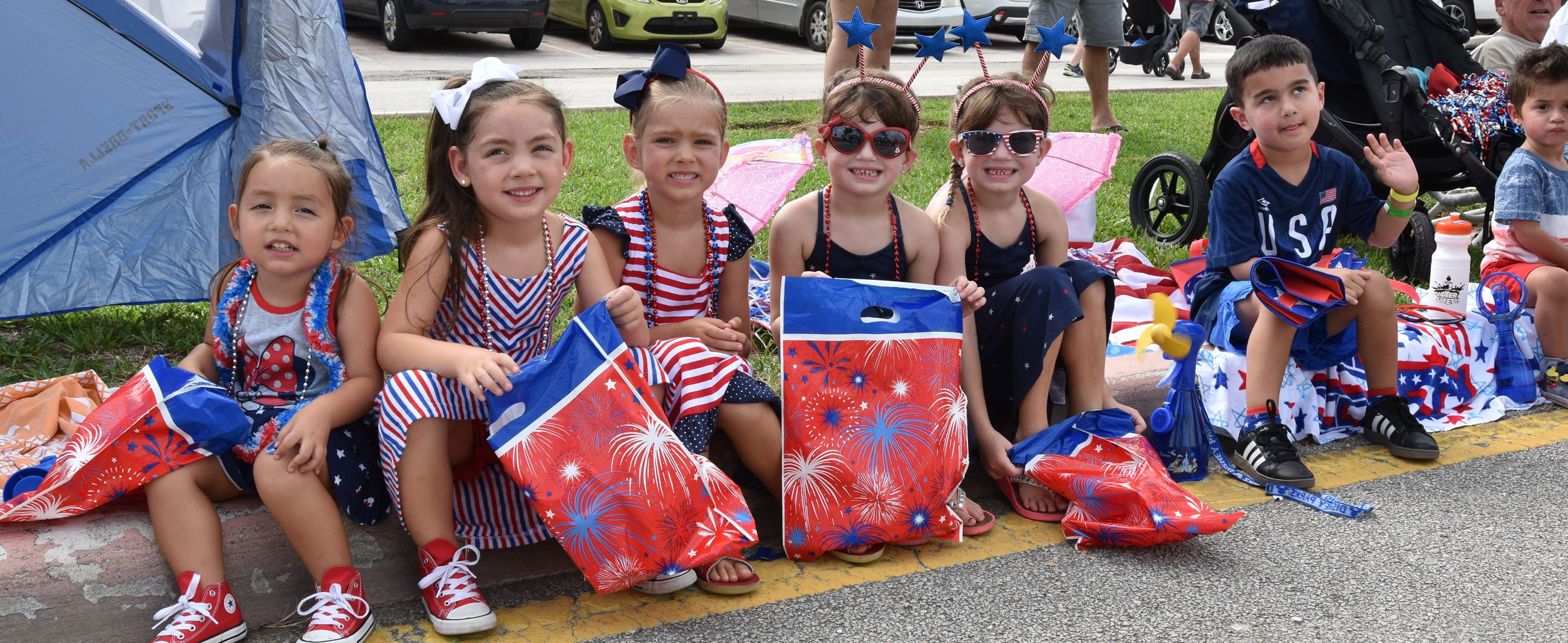 Children at July 4th Event in Lauderdale-By-The-Sea