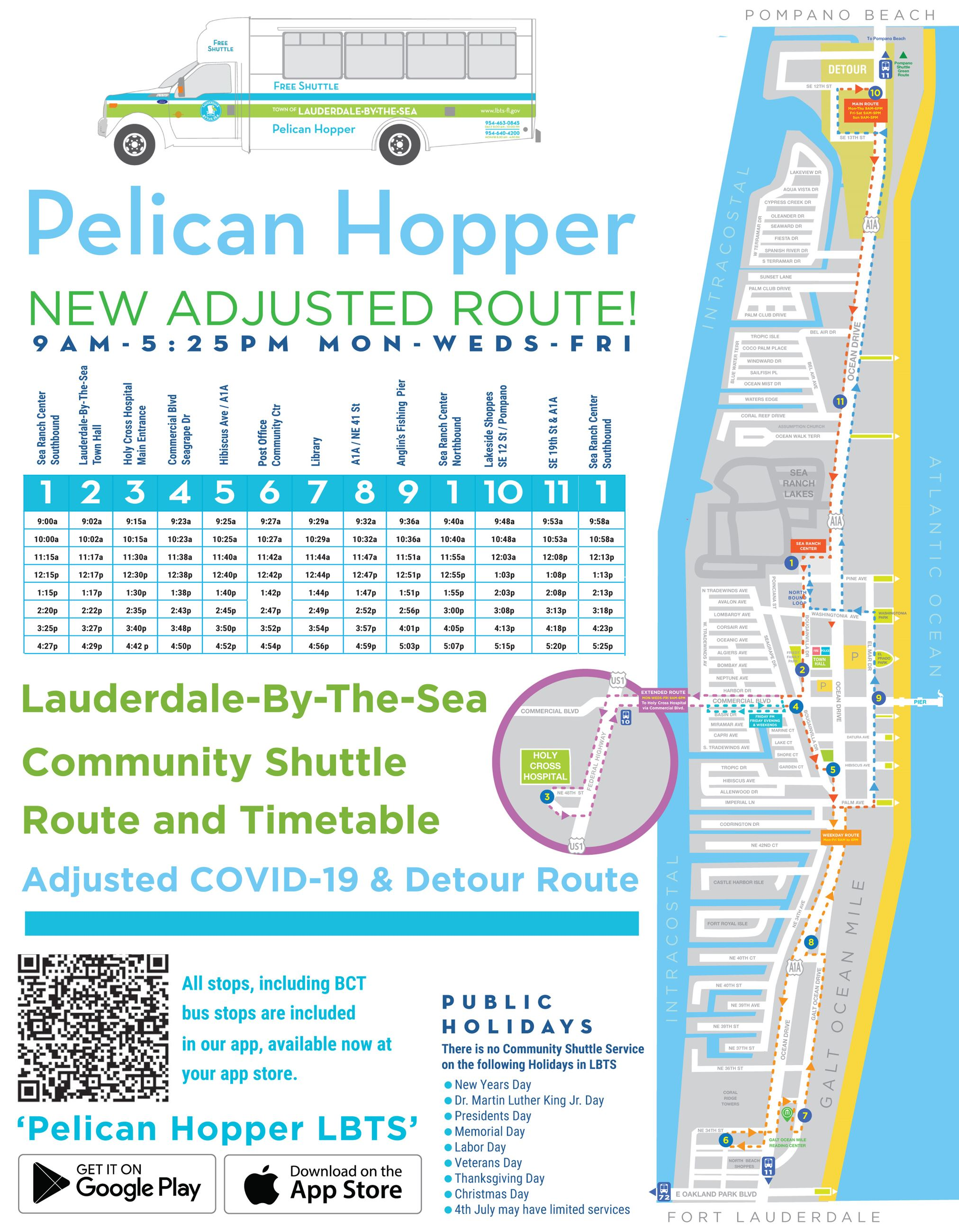 Pelican Hopper Route Map