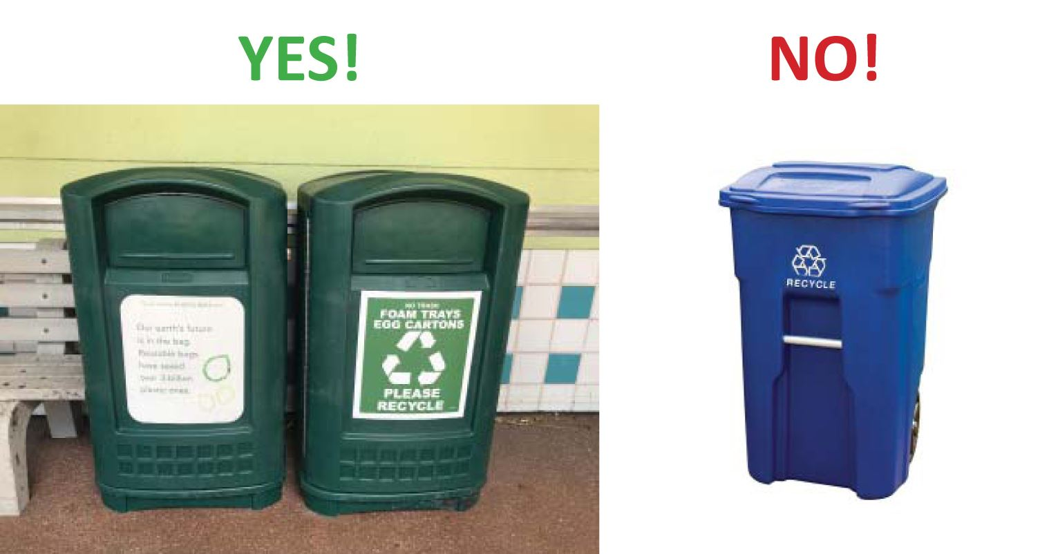 yes and no recycling graphic